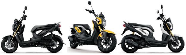 Honda Zoomer X สีเหลือง สีขาว สีดำ