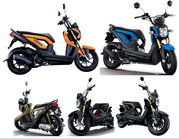 New Honda Zoomer X สีส้ม สีฟ้า ฯ