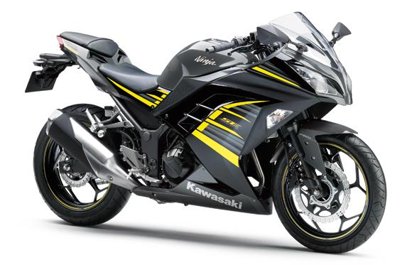 Ninja 300 สีเทา-ดำ