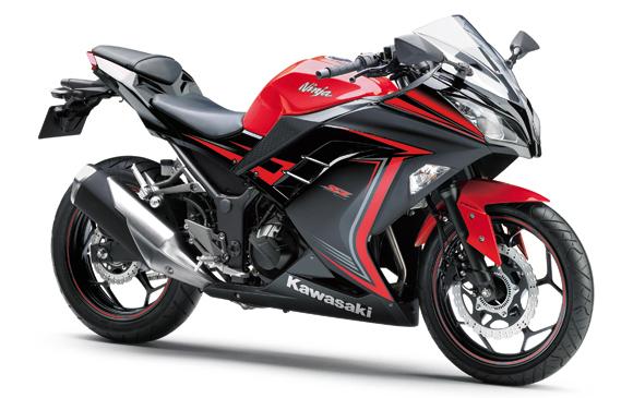 Ninja 300 สีแดง-ดำ