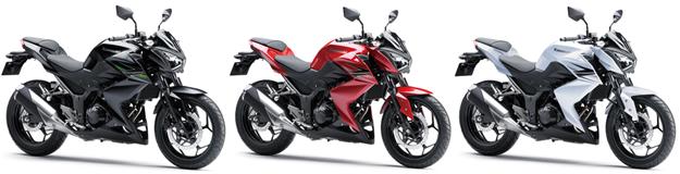 Z250 สีแดง, Z250 สีดำ, Z250 สีขาว