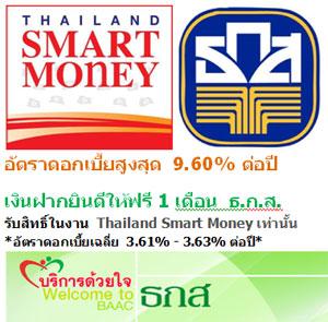 ฝากประจำดอกเบี้ยสูงสุด 9.6% เงินฝากยินดีให้ฟรี 1 เดือน
