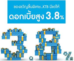 เงินฝากมีแต่ให้ ธนาคารกรุงไทย