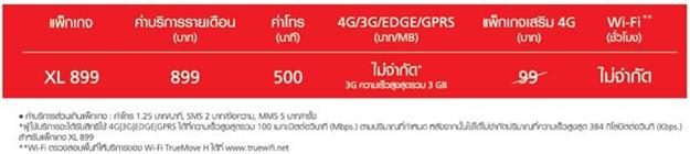 Package XL899 Truemove H