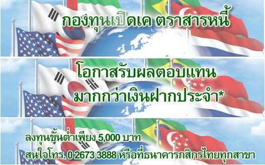 กองทุนตราสารหนี้ต่างประเทศ กสิกรไทย