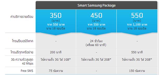 dtac-Smart-Samsung-Package