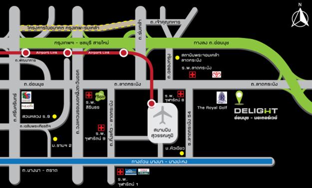 map-Delight-onnoot-motorway