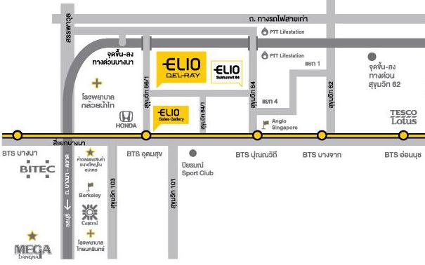 แผนที่โครงการ ELIO คอนโด