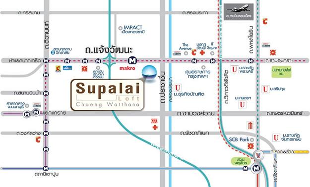 supalai-loft-chaengwatthana-map