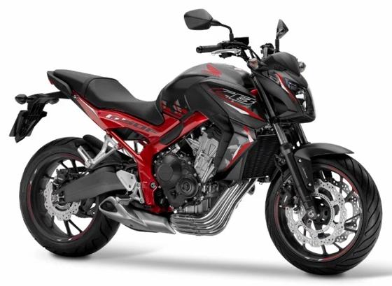 2016 CB650F สีดำด้าน-แดง