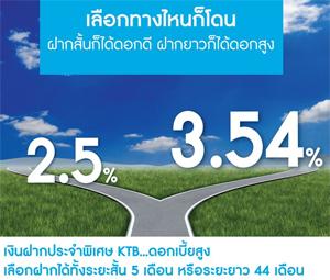 ฝากระจำ ธนาคารกรุงไทย