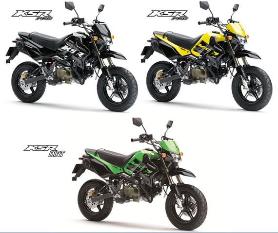 KSR Pro สีดำ, สีเหลือง, สีเขียว