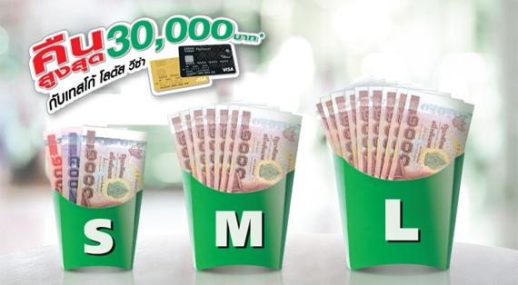 tesco lotus visa  เงินคืน 30,000