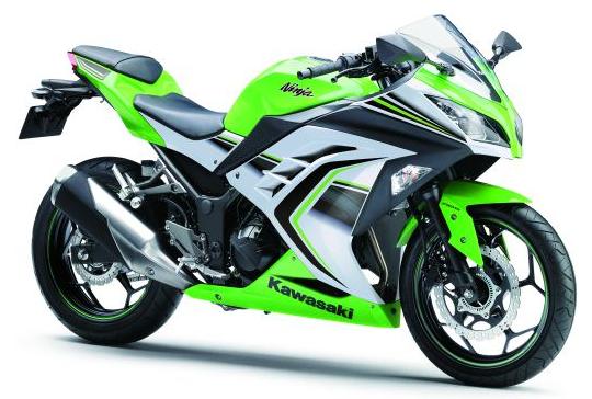 ninja 300 สีเขียวอ่อน