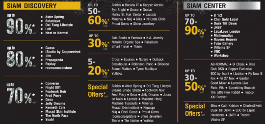 Siam Discovery SALE