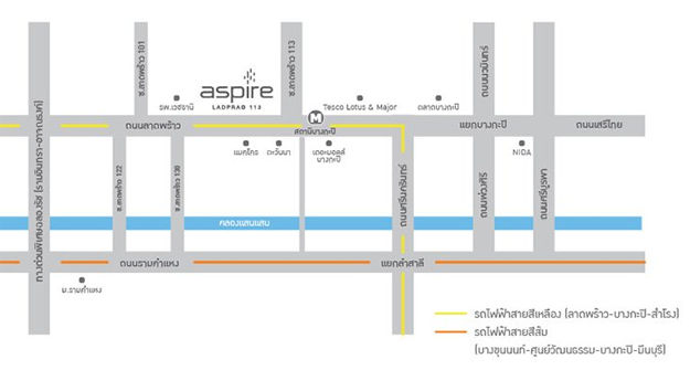Aspire Ladprao 113 map