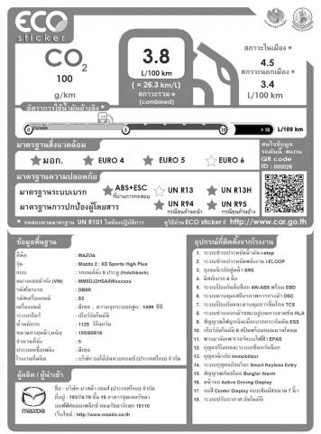 mazda ECO Sticker, QR Code