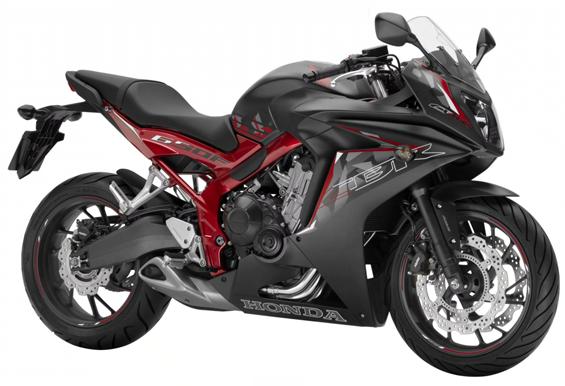 CBR650F สีดำ-แดง