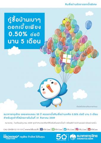 สินเชื่อบ้านกรุงไทย 2559