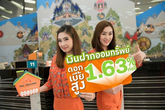 เงินฝากออมทรัพย์ 1.63%
