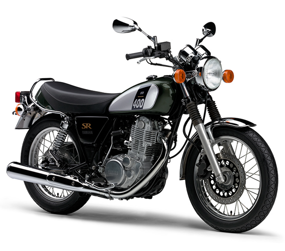 Yamaha SR400 สีเขียว