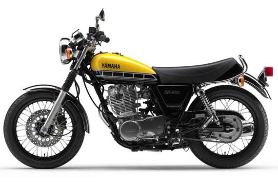 Yamaha SR400 สีเหลือง