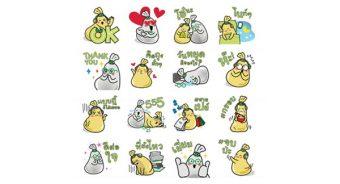Sticker Line, KBank Social Life