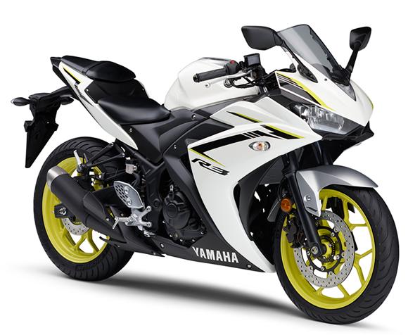 Yamaha R3 2018 สีขาว