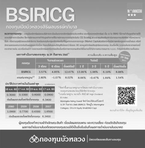 BBASICDLTF, BSIRICG, Dividend