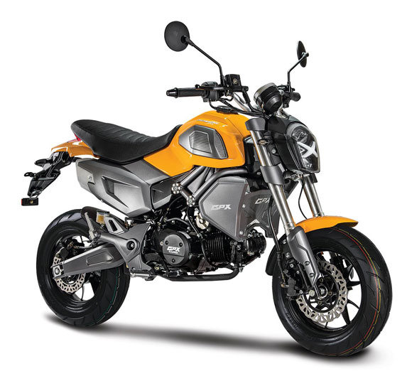 Demon X 125 สีเหลือง