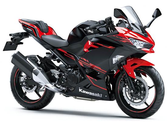 Ninja 400 KRT สีแดง