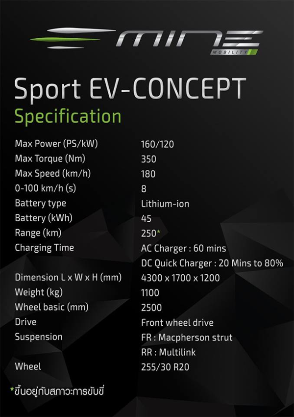 MINE Sport EV Comcept