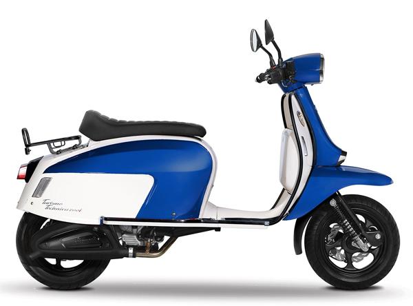 Scomadi TT125i สีน้ำเงิน-ขาว