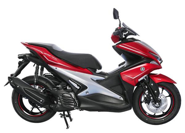 Aerox 155 2018 ABS สีแดง-เทา