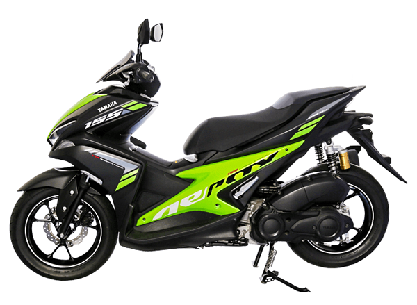 Aerox 155 2018 R Version สีดำ-เขียว