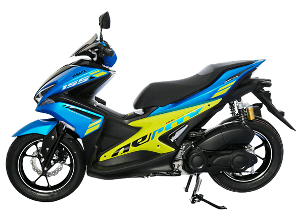 Aerox 155 2018 R Version สีน้ำเงิน-เขียว