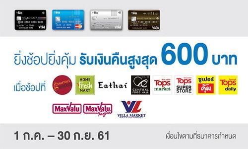 โปรบัตรเครดิต TMB เงินคืน 600 บาท