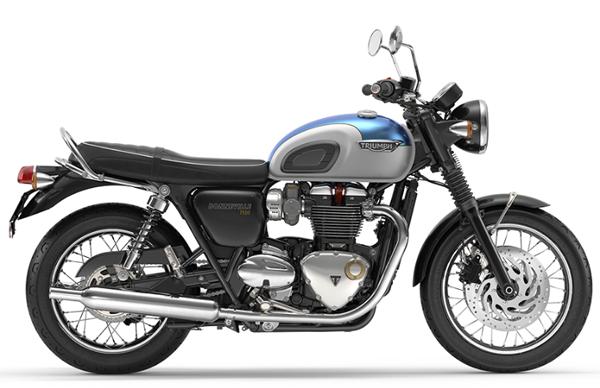 Bonneville T120 สีขาว-ฟ้า