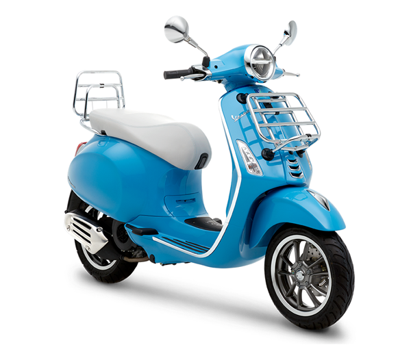 Vespa Primavera 50th Anniversary Edition, สีฟ้า