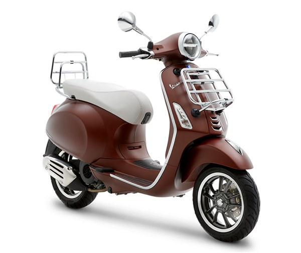 Vespa Primavera 50th Anniversary Edition, สีน้ำตาล