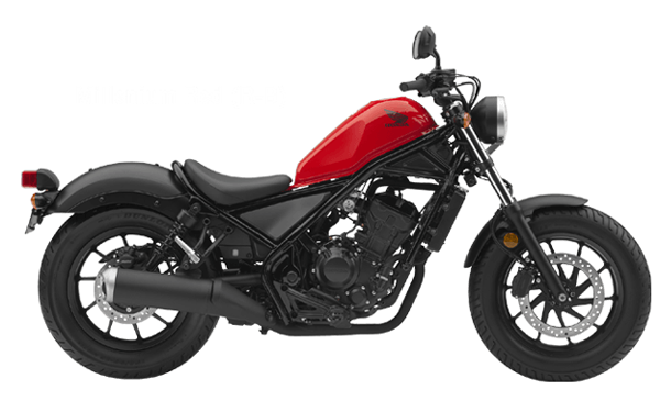 Honda Rebel 300 สีแดง