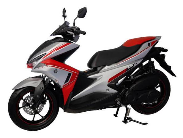 Aerox 155 2020 ABS สีเทา-แดง