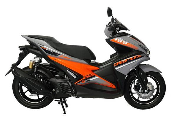 Aerox 155 2019 R Version สีเทา-ส้ม