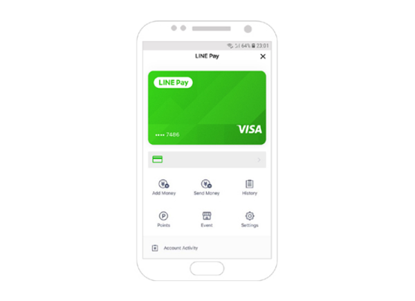 Line Pay Visa, Digital Payment Card