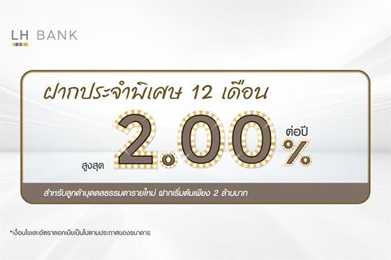เงินฝากประจำดอกเบี้ยสูง, ฝากประจำ 12 เดือน LH Bank
